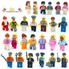 32-Style City Profession People Combinations Scenes Building Blocks Toys Compatible LegoINGlys With Weapons Action Figure Toys