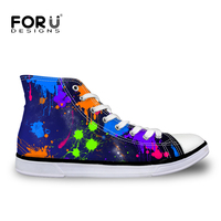 New Arrival 2015 Autumn Winter Women Fashion Casual Shoes High Top Canvas Shoes Graffiti Tribal Elements