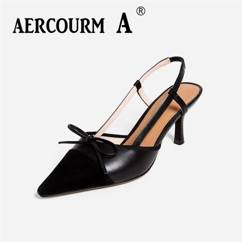 Aercourm A Women Cow Leather Sandals Middle Party Heel Sandals Lady Buckle Strap Summer Shoes Girls Casual Mixed Colors Sandals venchale 2018 summer new fashion sandals wedges platform women shoes height heel 10 cm buckle strap casual cow leather sandals