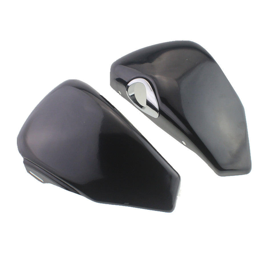 цены Black Side Oil Tank Battery Cover Covers For Harley Sportster Nightster Iron 883 XL