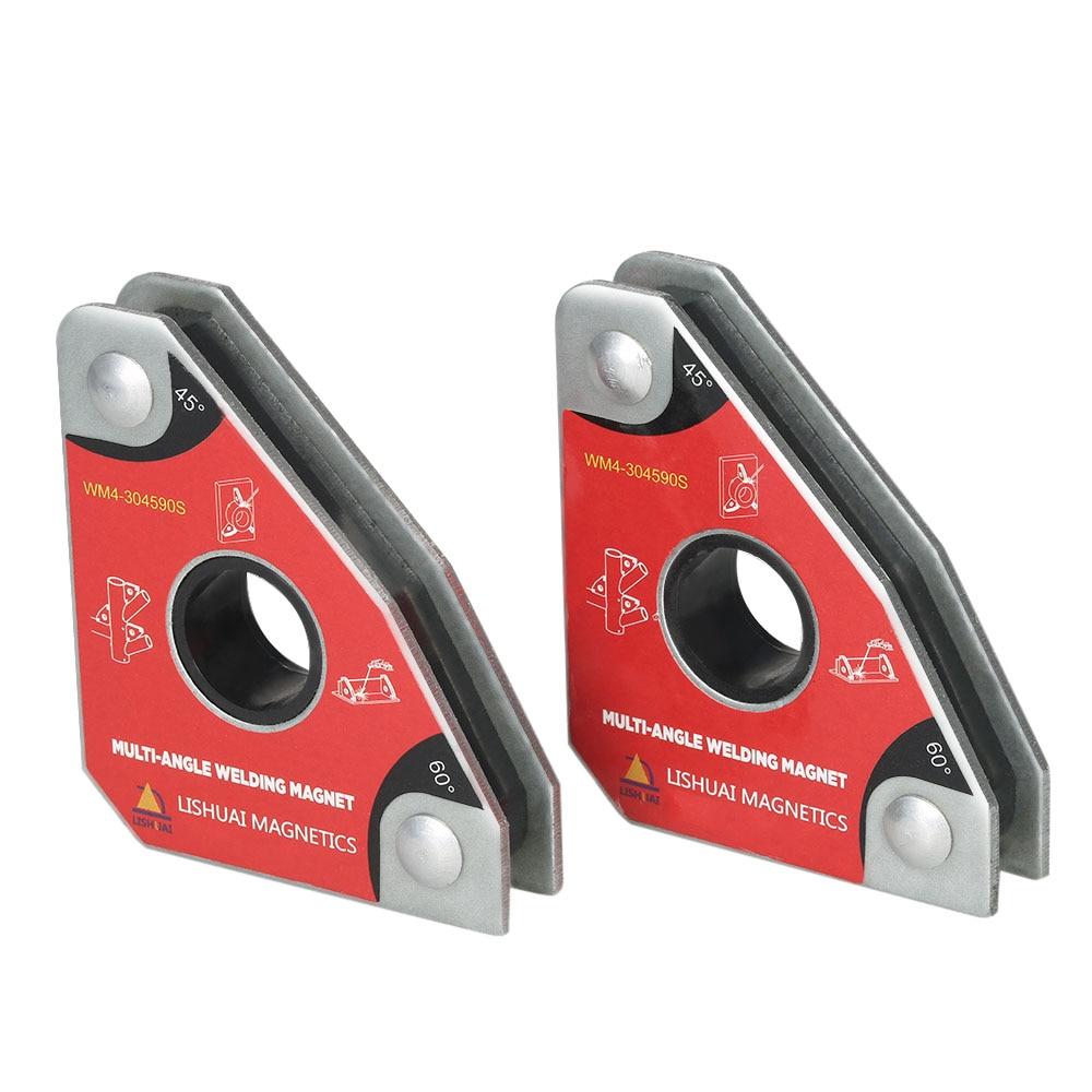 2 pz Multi-angolo di Saldatura Mini Magneti Al Neodimio del Morsetto Del Supporto Mai Smagnetizzazione di Sollevamento Posizionatore di Saldatura 30 60 45 90 gradi