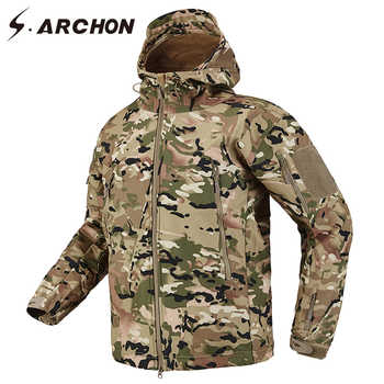 S.ARCHON Shark Skin Soft Shell Tactical Military Jacket Men Fleece Waterproof Army Clothing Multicam Camouflage Windbreakers Men - DISCOUNT ITEM  48% OFF All Category