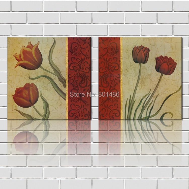 Jaune Et Rouge Tulipes s Impressions Sur Toile Fleur L image