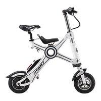 10 дюймовый складной электровелосипед алюминиевого сплава chainless Электрический свет для велосипеда и быстро складной электровелосипед с дет