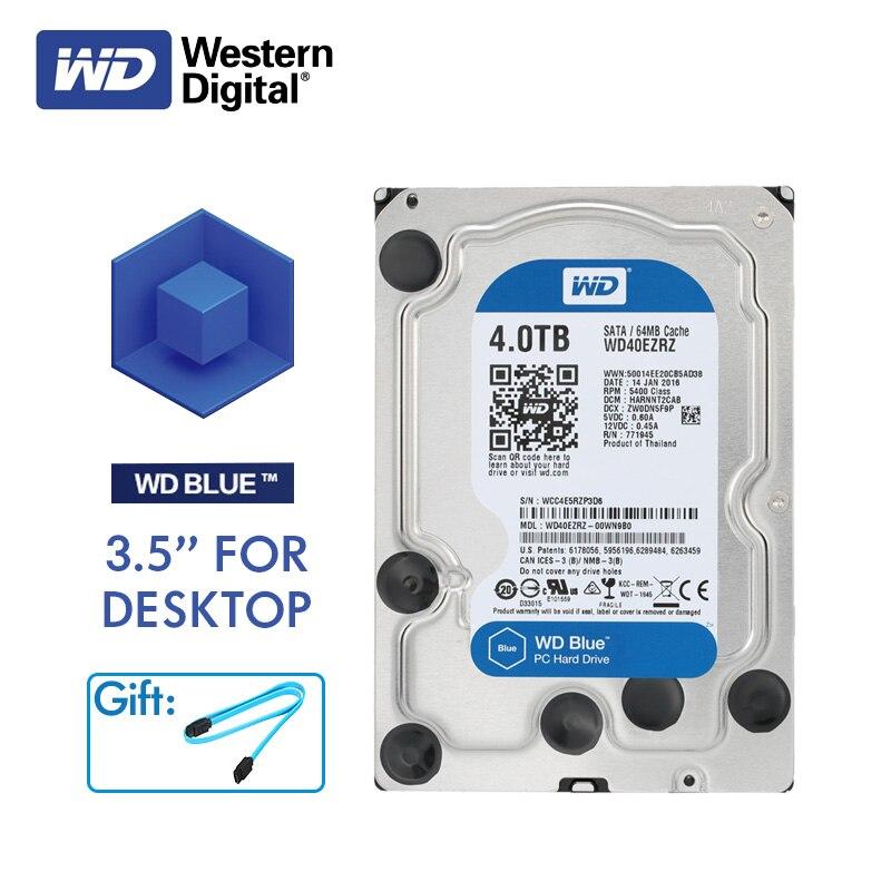 WD Western Digital Blue Desktop Computer HDD 4TB 5400RPM 3 5 SATA 6Gb s Internal 4