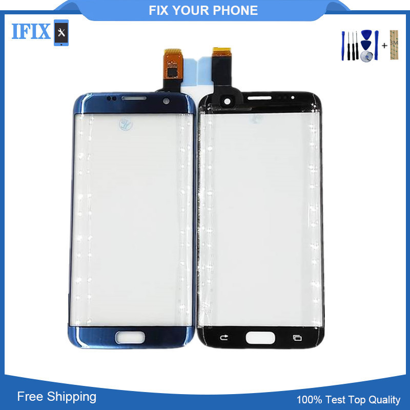 Für Samsung Galaxy S7 Rand S7edge G935 G935F G935FD G9350 SM-G935F Front Touch Screen Panel Outer Glas Objektiv mit Klebstoff werkzeuge