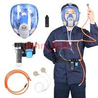 Fornecido Com entrada de Ar Sistema de Pulverização 6800 Full Face Máscara De Gás Respirador Respirador