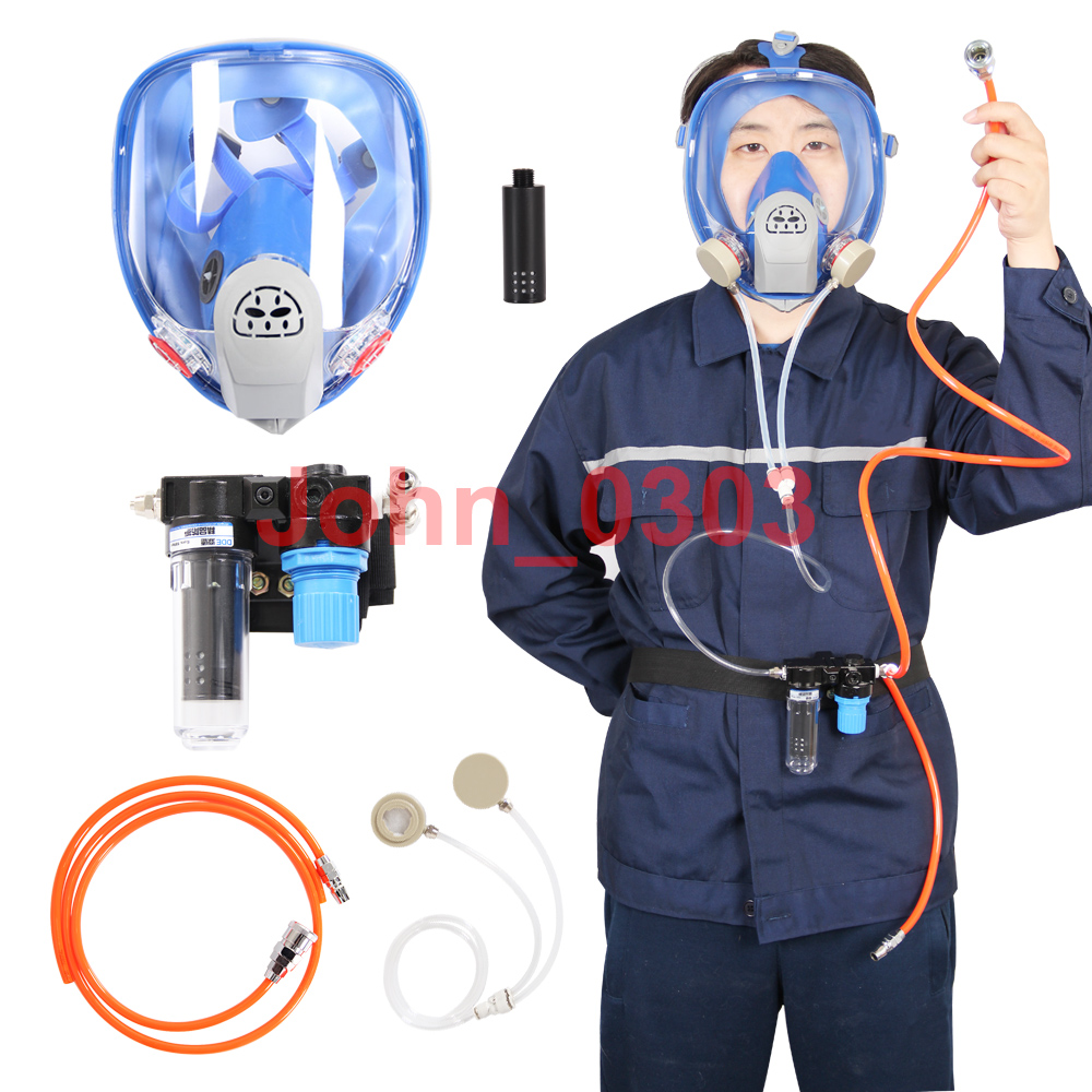 Supplied Air Fed Respirator System 6800 Spraying Full Face Respirator Gas Mask 9 in 1 suit gas mask half face respirator painting spraying for 3 m 7502 n95 6001cn dust gas mask respirator
