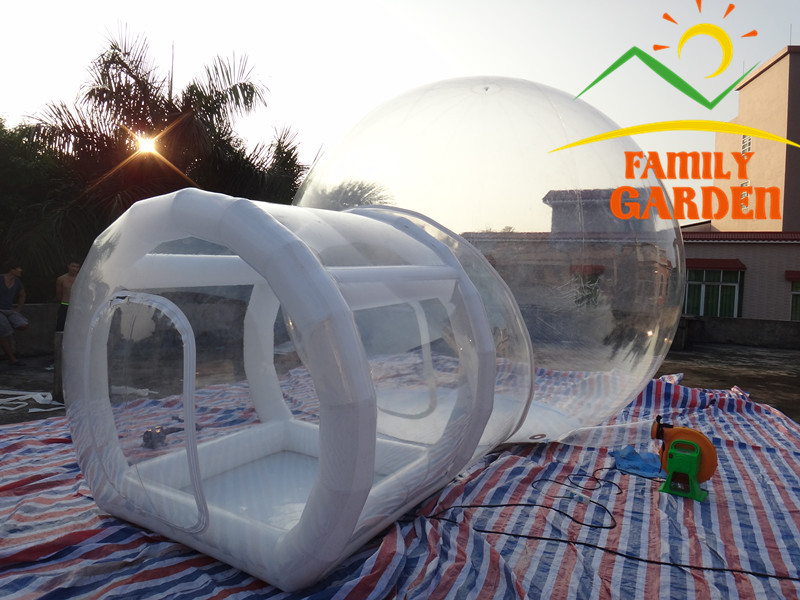 Outdoor Single Tunnel Inflatable Bubble Tent Family C&ing Backyard Transparent-in Tents from Sports u0026 Entertainment on Aliexpress.com | Alibaba Group & Outdoor Single Tunnel Inflatable Bubble Tent Family Camping ...