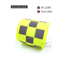50mm  X 10m  Fluorescent Yellow Oxford Warning Tape with Small Square for Sports Suits free shipping