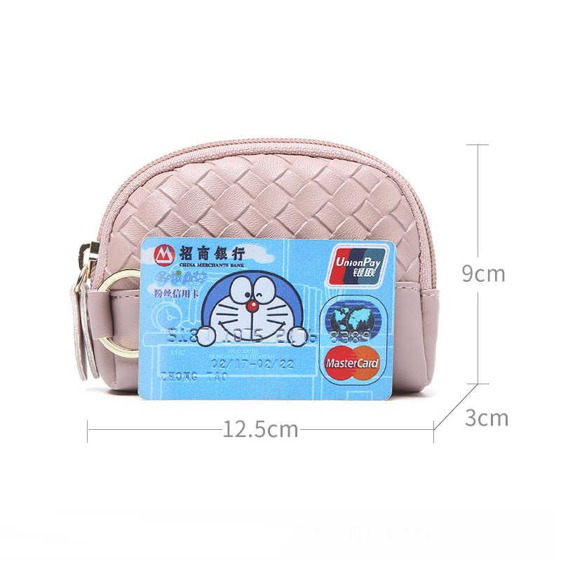 JANE'S جلدية العلامة التجارية الأزياء حك النساء محفظة نسائية للعملات المعدنية 2019 جديد صغيرة مصغرة تغيير محفظة بطاقات النقدية حقيبة مفتاح حلقة لفتاة مراهق