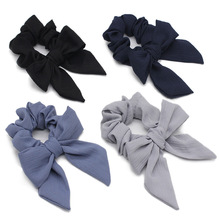 2019 Special Offer Direct Selling Baby Girls Hair Bands Accessories Big Solid Chiffon Bowknot Cloth Material Bnads