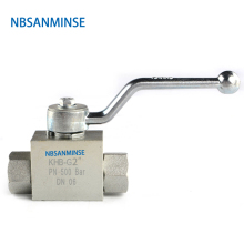 NBSANMINSE Hydraulic High Pressure Ball Valve 31.5Mpa KHB G / NPT 2 Manual Industry