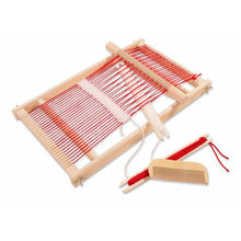 Baby Toys Pretend Play Toys Wooden Traditional Weaving Loom Childrens Wooden Toy Educational Gift Craft Wooden Weaving Frame(China)