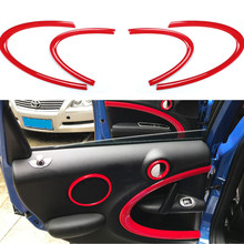 For MINI Cooper Countryman R60 Interior Door Trim Kit Decoration Cover For MINI Cooper R60 Accessories For MINI R60 Car Sticker(China)