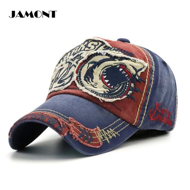 704d3fa8d7d JAMONT Shark Golf Cap Sunshade Hats Adjustable Comfortable Outdoor Sports  Cotton Embroidery Golf Hats 5Colors For Man Women
