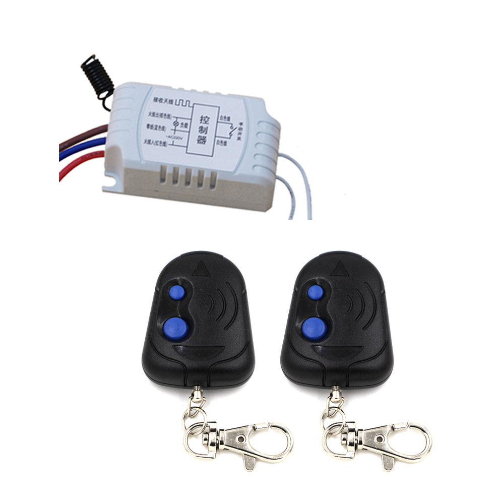 Wireless Remote Control & Manual Switch for Curtain Lamp Motor AC220V Relay Receiver & 2 Transmitter 315Mhz/433Mhz цена 2016