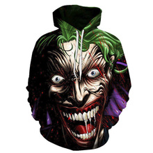 DC Joker Hoodies Men Women Funny Marvel Superhero Hoodie Halloween Sweatshirts Cosplay 3D Print Pullovers Tracksuits Streetwear