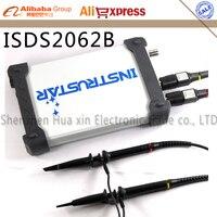 ISDS2062B профессиональная Виртуальная осциллограф 2CH ПК USB цифровой осциллограф + анализатор спектра + DDS + развертки 20 м/60 мс/с