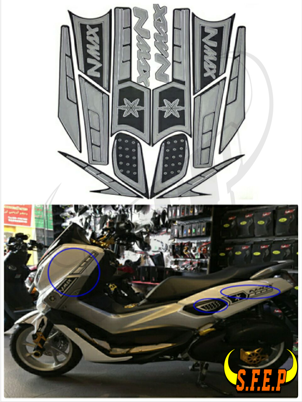 Motorcycle Stickers Decorated Decals Sticker Case For Yamaha NMAX155