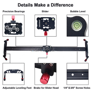 """Image 2 - ASHANKS Camera Slider 23""""/60cm Ball bearing Typed Rail System for DSLR and Video Camera, Smartphone for Youtuber and Film Maker"""