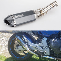 Motorcycle Akrapovic Exhaust Pipe And Link Pipe For Honda CB600F Hornet CBR600F 2007 2013 Hornet 600 Exhaust Escape Slip on