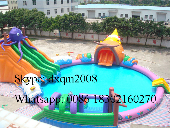 2016 PVC Inflatable Slide For Pool /inflatable Water Pool Slide/inflatble  Slide For Swimming