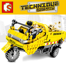 Sembo Diamon Nano Blocks Tricycle Mechanical password Technic Voiture  Building Brick Educational Toy Gift