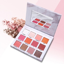 12 Color Nude Shining Marble Eyeshadow Palette Makeup Glitter Pigment Smoky Eye Shadow Pallete Waterproof Cosmetics hold live color focus charm show red eye shadow palette nude shadows cosmetics korean makeup 12 colors pigment glitter eyeshadow