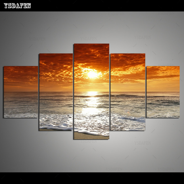 HD Printed Painting Canvas Printing Seascape painting Room decor print poster picture canvas Framed Art HG-052