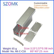10 pcs/lot small aluminum enclosure cabinet extruded aluminum 25x40x80mm
