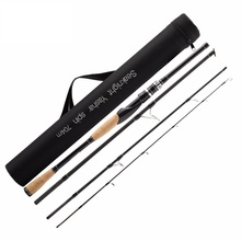 Best price Hot sale Carbon2.1M  Fishing Rod Spinning Rods Lures Line Weight 12-25LB 4 Sections Medium Power 65cm Fishing Rod Bag Rod