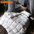 Svetanya Jacquard Seide Gänsedaunen 3d Quilt könig königin in voller größe Tröster Winter Dicke Decke-in Bettdecken & Duvets aus Heim und Garten bei