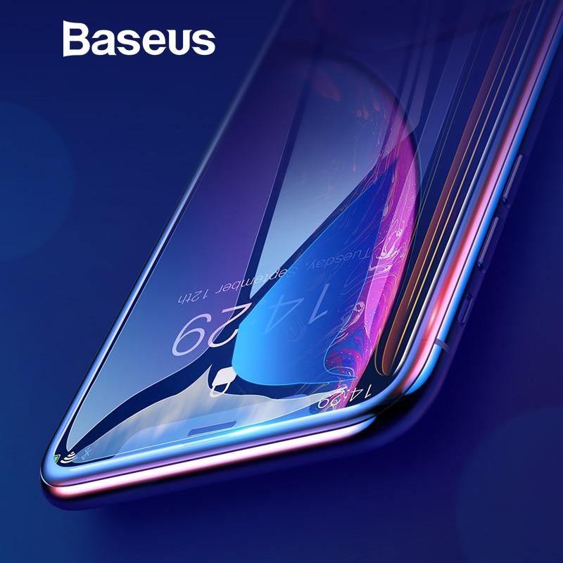 Baseus 0,3mm la cobertura completa de vidrio templado para iPhone Xs Max XR 2018 Protector de pantalla delgada de vidrio iPhone X Xs X XR