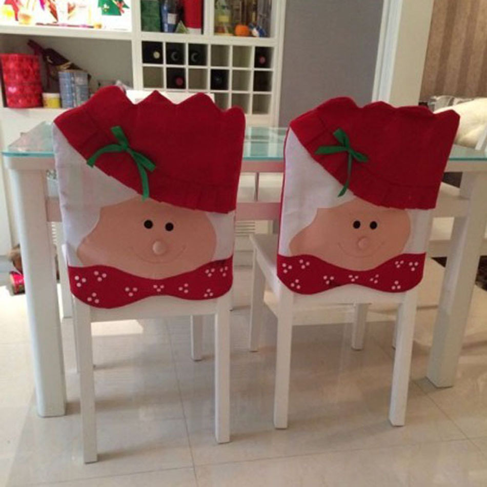 Christmas chair covers -  2 Pair Lovely Mr Mrs Christmas Chairs Covers Home Decoration De Noel 1 Pair