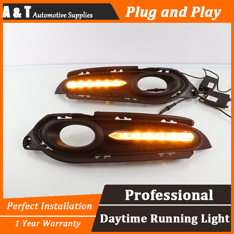 A T car styling For Honda HRV Vezel LED DRL For HRV Vezel led fog lamps