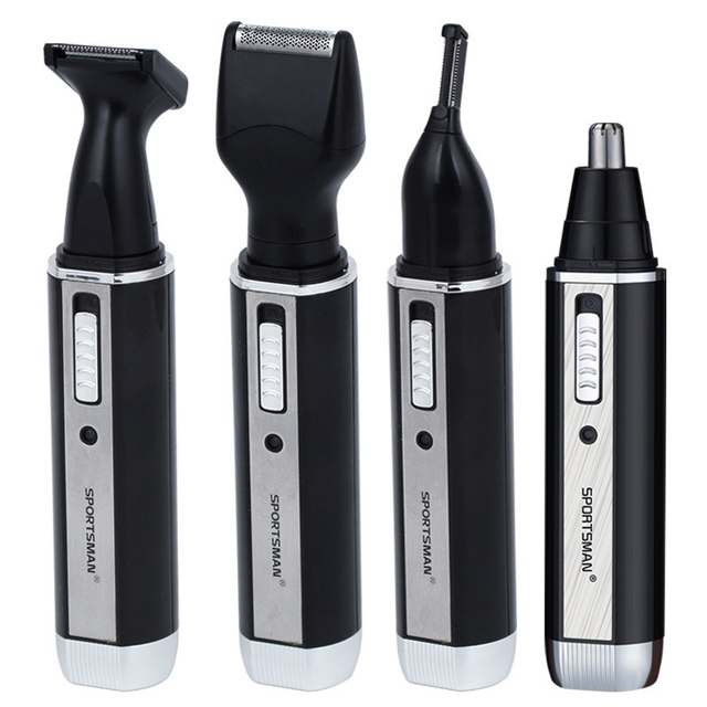 4 In 1 Brand Nose Hair Trimmer Eyebrow Beard Shaving Knife Multi-function Washable Head Set Nose Hair Clippers Machine Shaver