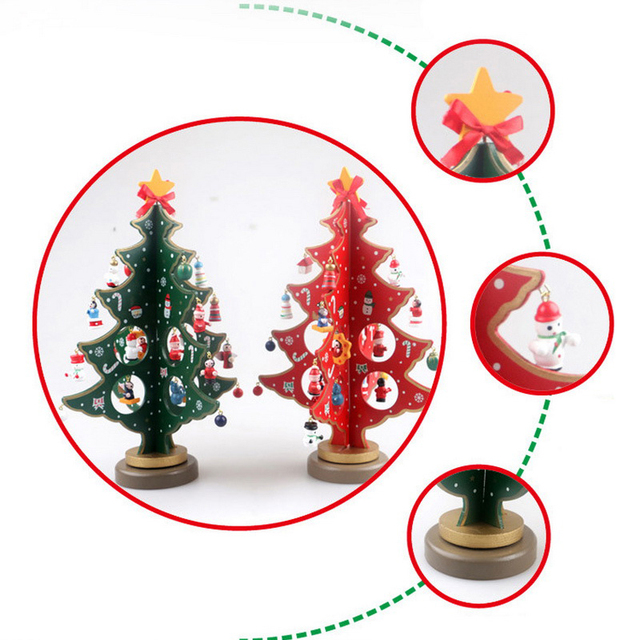 Mini Wooden Christmas Ornaments