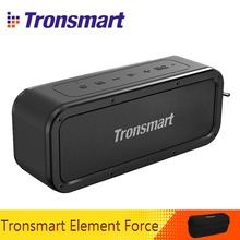 Портативная колонка Tronsmart Force, Bluetooth 5,0, 40 Вт, IPX7, водонепроницаемая Колонка TWS, 15 часов работы, с сабвуфером, NFC телефоном