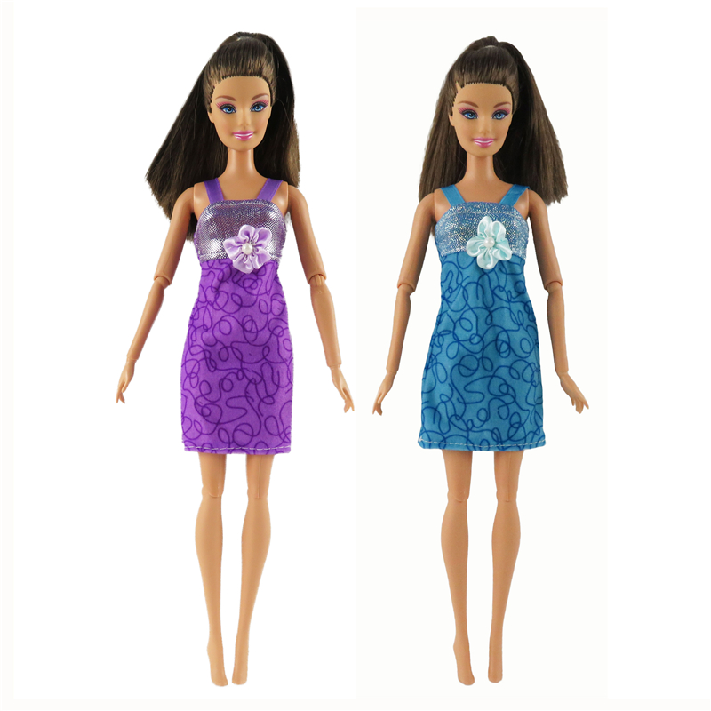 1 Pcs Vogue Brief Gown Stunning Handmade Social gathering Outfit Barbie Doll Garments For Barbie Dolls Gown Lady's Reward For Youngsters #009A