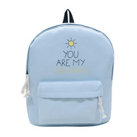 Fresh Style Women Canvas Backpack Cute Travel Bags Preppy Style School Bags For Teenage Girls Solid