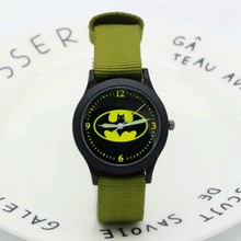 2018 New fashion nylon kids batman watches promotion gift wo