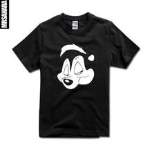 Pepe Le Pew Barra Guns n Roses T-shirt XS-2XL Metal Do Punk Rock Da Música Dos Homens & das mulheres T-Shirt novo transporte Rápido