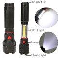 2 в 1 LED 3 Режим Фонарик + УДАРА Работы Лампы Свет 300 Люмен СВЕТОДИОДНЫЙ Фонарик Факел lanterna с гибким магнитное Основание