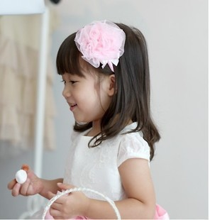 Best quality 20pcs/lot pink blue pruple red Children's hairpin pink flower headband ,baby Hairbands H7063