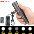 4000LM CREE XML L2 U2 LED Flashlight Torch Lamp Light 5-Modes Tactical Flashlight 18650 penlight Waterproof+Battery/charger