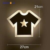 צורת בגדים מודרני מנורת קיר מנורות קיר מנורות קיר אורות AC 220 V 12 W אור המראה בחדר אמבטיה לחדר שינה שימוש פנימי