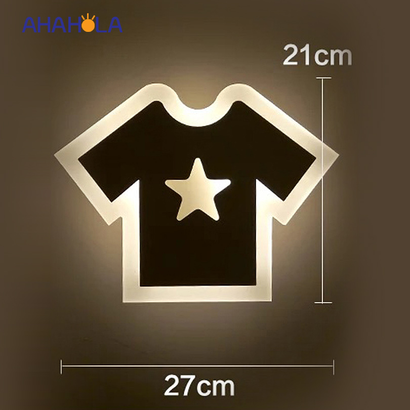 clothes shape modern wall lamp lights AC 220V 12W sconce wall lamps for bedroom bathroom led mirror light indoor use modern acryl aluminum 4 heads led 12w mirror lamps for bathroom aisle 65cm waterproof ip65 anti fog indoor wall lamps 1184