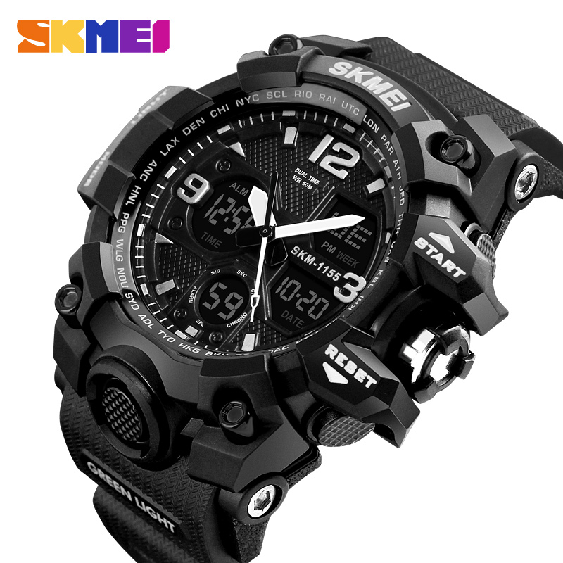Men Watches Military Sports Watch Men Top Brand Luxury SKMEI Men's Quartz Digital Casual Outdoor 50M Waterproof Wrist Watch weide new men quartz casual watch army military sports watch waterproof back light men watches alarm clock multiple time zone