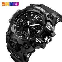 Для мужчин часы Военные Спортивные часы Для мужчин Лидирующий бренд класса люкс SKMEI Для Мужчин Кварцевые Цифровой Повседневное открытый 50 м Водонепроницаемый наручные часы